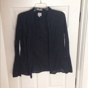 Guess black button up